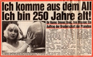Vor 20 Jahren (!) war Omnec Onec schon einmal für Interesse für die BILD